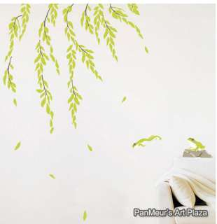 KR 22 Weeping Willow, Decals Decor Wall Art Sticker DIY