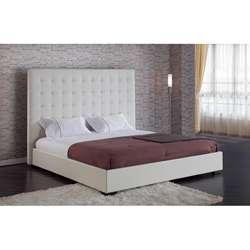 Delano White King Platform Bed