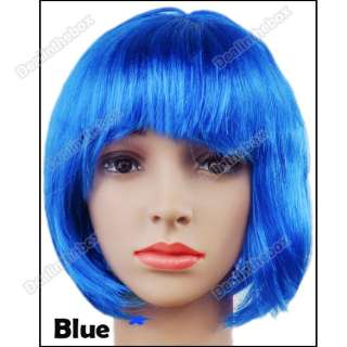 Fashion Lady Party Fancy Dress Short Straight BOB Fake Hair Wig New