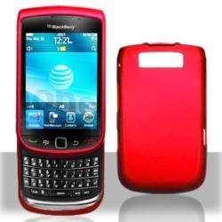 Premium BlackBerry Torch 9800 Red Rubberized Case