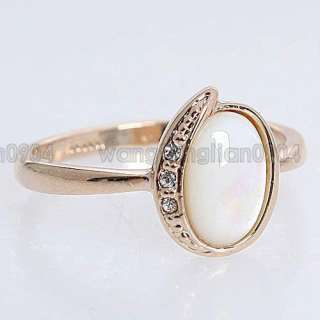 Shell 18k Yellow Gold Plated Ring  95528