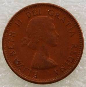 1953 Canada Canadian PENNY 1 one CENT small cent COIN