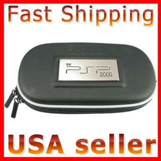 HARD COVER CASE POUCH CARRY BAG BLACK FOR PSP 2000 3000