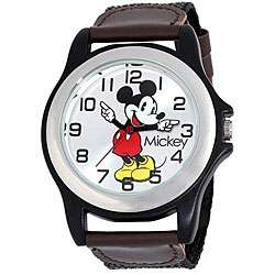 Mens Black Case Disneys Mickey Mouse Watch
