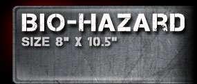 Bio Hazard Airbrush Stencil Template Paint Airsick