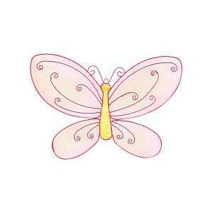 Little Boutique Bling Wire Wall Art   Butterfly Baby