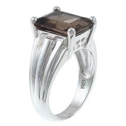 Gems For You Sterling Silver Smoky Quartz Ring