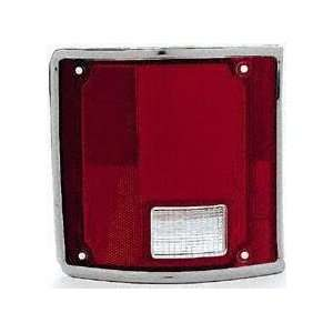 73 91 GMC JIMMY TAIL LIGHT LENS LH (DRIVER SIDE) SUV, With Chrome Trim