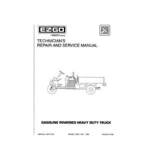 Repair and Service Manual for Gas Heavy Duty Truck Patio, Lawn