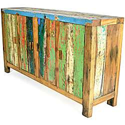 Ecologica Furniture Reclaimed Wood Entertaiment Console with Storage