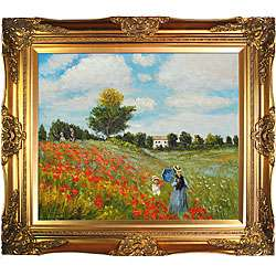 Claude Monet Poppy Field in Argenteuil Framed Art