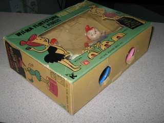 Pebbles Flintstone 1960s Kohner push puppet Hanna Barbera playset MIB
