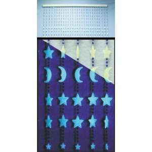Beaded Curtain Glow in dark Stars & Moons