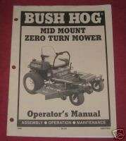 Bush Hog Mid Mount Zero Turn Mower Operators Manual