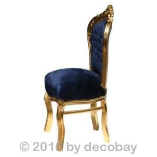 chairs, antique style chair, navy blue velvet. Solid wood antique g