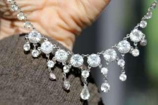 BEAUTIFUL VINTAGE EDWARDIAN DECO DIAMANTE GLASS RHINESTONE NECKLACE
