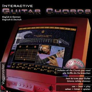 Interactive Guitar Chords CD ROM(English & German