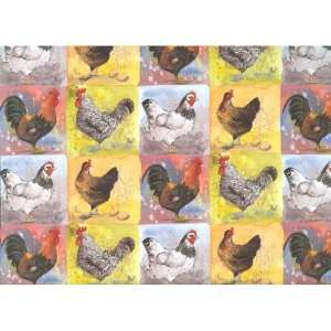 Checkerboard Chickens Gift Wrapping Paper Health