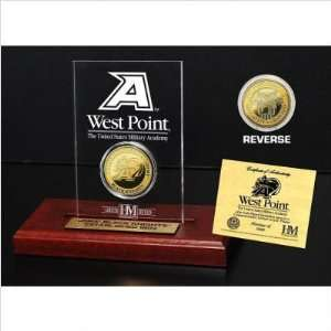 Highland Mint USMAACRYLK United States Military Academy 24KT Gold Coin