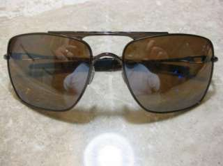 OAKLEY POLARIZED DEVIATION SUNGLASSES BROWN CHROME OO4061 07