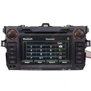 Corolla Car GPS Navigation Radio TV Bluetooth USB MP3 IPOD DVD USB
