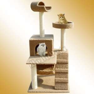 : 60 Brown Cat Tree House 86 Condo Scratcher Furniture: Pet Supplies