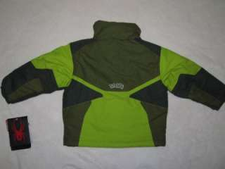 GREEN & GREY WINTER JACKET COAT & COLUMBIA SKI PANTS NEW 4/5