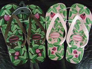 Women Shoes Sandals Flip Flops Pink Brown Lady Bug Floral NEW