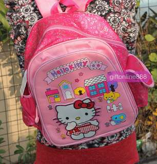 14 Hello Kitty satchel Backpack School Bag pink 0841