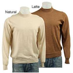 Toscano Mens Italian Wool Funnel Neck Sweater