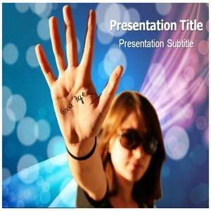 Good Bye PowerPoint Template   Backgrounds PowerPoint Templates on