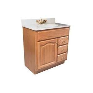 30X21 OAK VANITY BASE 1DR/3DWR: Home Improvement