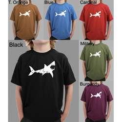 Los Angeles Pop Art Boys Shark Bite Me T Shirt