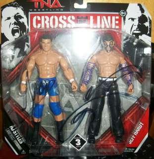 AJ Styles & Jeff Hardy Signed TNA Cross The Line Figurines