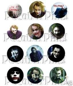 The DARK KNIGHT (12) Pins / Buttons   Batman Joker Film