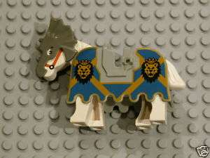 LEGO White Horse + Barding w Lion Heads Castle Knights