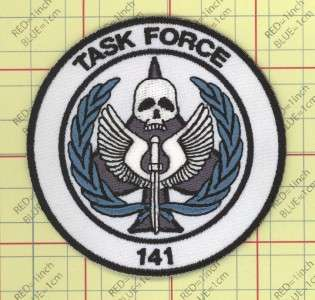 141 Patch iron on Modern Warfare 2 MW3 Gaming Black OPS PS3 XBOX WII