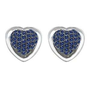 0.68 cttw Original Star K(tm) Heart Shape Love Earrings