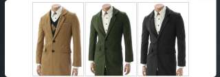 lighter Mens Casual Best Wool Blends Coat Collection (003)