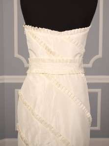 AUTHENTIC Anne Barge La Fleur LF214 Lt Ivory Silk Taffeta Bridal Gown