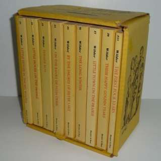 RARE Vintage LITTLE HOUSE on the Prairie Boxed Set Laura Ingalls