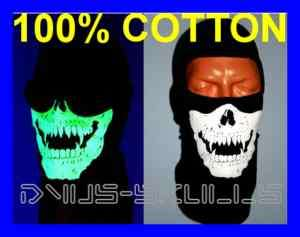 GHOST SKI FACE BALACLAVA SKULL MASK MODERN WARFARE2 COD 1HOLE BLACK