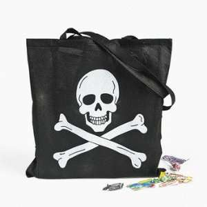 Large Pirate Skull And Crossbones Trick Or Treat Tote