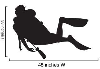Vinyl Wall Art Decal Scuba Divers Diving 2 Decals