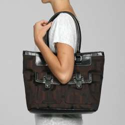 Nine West Reno Signs Large Double Pocket Tote