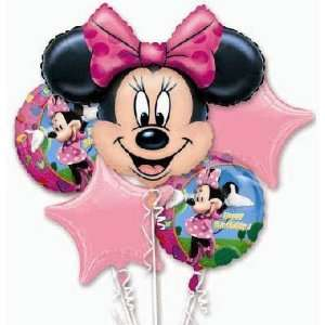 Birthday Balloons   Minnie Mouse Birthday Bouquet: Toys
