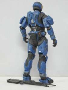 H62 MCFARLANE TOYS HALO REACH SPARTAN EVA BLUE ACTION FIGURE RARE