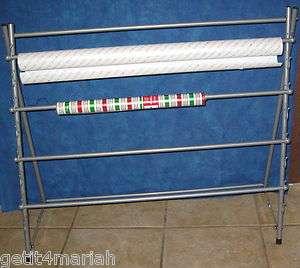 Metal Over the Door Gift Wrap Organizer Rack
