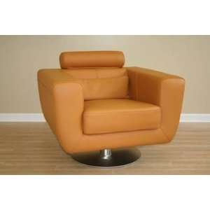 Modern Light Brown Leather Club Chair