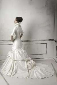 2012 Hot A line Taffeta Wedding Bridal Dress + Jacket Custom Size (82